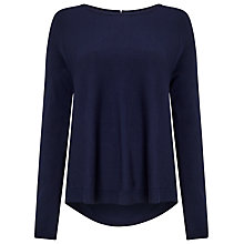 Buy Phase Eight Terza Zip Back Swing Jumper, Navy Online at johnlewis.com