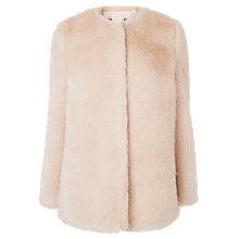Buy L.K. Bennett Evane Faux Fur Coat, Oatmeal Online at johnlewis.com