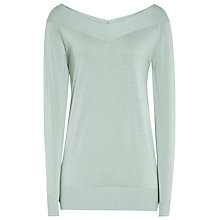 Buy Reiss Christobel Off Shoulder Jumper, Sage Online at johnlewis.com