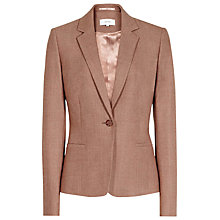 Buy Reiss Tailored Peplum Jacket, Chestnut Melange Online at johnlewis.com
