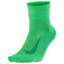 Buy Nike Unisex Dry Elite Lightweight Quarter Running Socks, Black/Silver Online at johnlewis.com