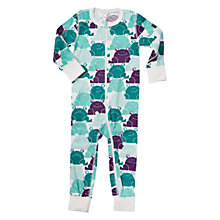 Buy Polarn O. Pyret Baby Frog Onesie Pyjamas, Quetzal Green Online at johnlewis.com
