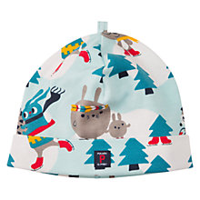 Buy Polarn O. Pyret Baby Skating Animal Beanie Hat, Pastel Turquoise Online at johnlewis.com