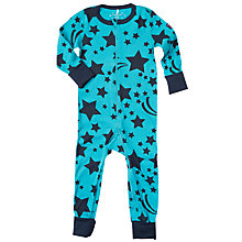 Buy Polarn O. Pyret Children's Star Motif Onesie Pyjamas, Dark Sapphire Online at johnlewis.com
