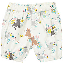 Buy John Lewis Baby Cat Print Shorts, Cream/Multi Online at johnlewis.com