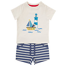 Buy John Lewis Baby Lighthouse T-Shirt and Shorts Set, White/Blue Online at johnlewis.com