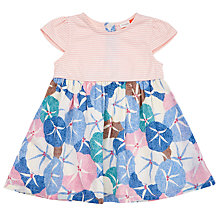 Buy John Lewis Baby Half Stripe Floral Woven Dress, Multi Online at johnlewis.com