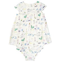 Buy John Lewis Baby Seaside Dress, Cream Online at johnlewis.com