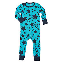 Buy Polarn O. Pyret Baby Star Motif Onesie Pyjamas, Dark Sapphire Online at johnlewis.com
