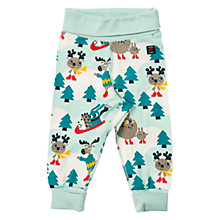 Buy Polarn O. Pyret Baby Ski Animals Trousers, Pastel Turquoise Online at johnlewis.com