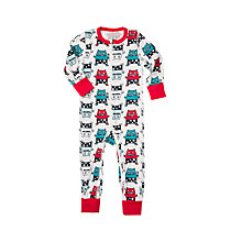 Buy Polarn O. Pyret Children's Monster Onesie Pyjamas, Ski Patrol Online at johnlewis.com