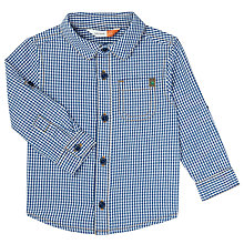 Buy John Lewis Baby Gingham Check Shirt, Blue Online at johnlewis.com