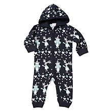 Buy Polarn O. Pyret Baby Knit All In One Playsuit, Dark Sapphire Online at johnlewis.com