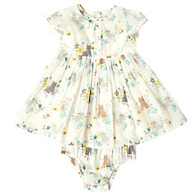 Buy John Lewis Baby Cat Woven Dress, Cream Online at johnlewis.com