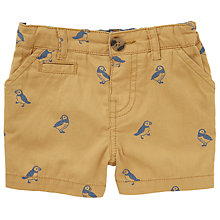 Buy John Lewis Baby Puffin Print Shorts, Yellow Online at johnlewis.com