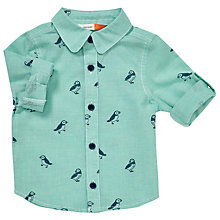 Buy John Lewis Baby Puffin Print Shirt, Blue Online at johnlewis.com