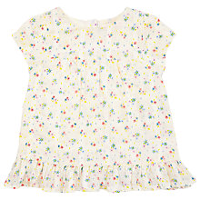 Buy John Lewis Baby Ditsy Smock Top, Cream/Multi Online at johnlewis.com
