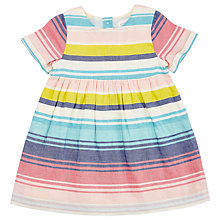 Buy John Lewis Baby Stripe Woven Dress, Multi Online at johnlewis.com