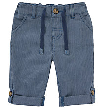 Buy John Lewis Baby Textured Trousers, Blue Online at johnlewis.com