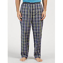 Buy BOSS Urban Woven Cotton Check Lounge Pants, Grey/Yellow Online at johnlewis.com