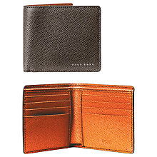 Buy BOSS Signature Textured Leather Wallet Online at johnlewis.com