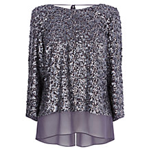 Buy Coast Sabah Sequin Top, Silver Online at johnlewis.com