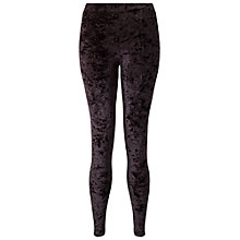 Buy Miss Selfridge Petite Velvet Leggings, Black Online at johnlewis.com