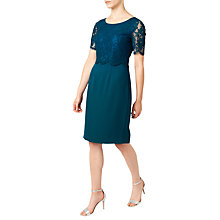 Buy Jacques Vert Petite Lace Layered Dress, Dark Blue Online at johnlewis.com
