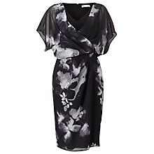 Buy Jacques Vert Floral Wrap Soft Dress, Multi Online at johnlewis.com