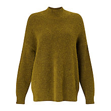 Buy Jigsaw Soft Mohair Jumper, Golden Moss Online at johnlewis.com