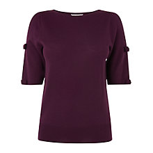 Buy L.K. Bennett Gene Bow Detail Top, Purple Online at johnlewis.com