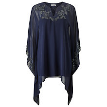 Buy Jacques Vert Floral Beaded Kaftan, Navy Online at johnlewis.com