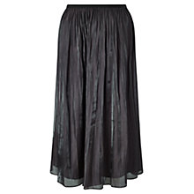 Buy Jigsaw Pleated Iridescent Midi Skirt, Violet Haze Online at johnlewis.com