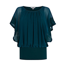 Buy Coast Kailia Lace Calla Top, Forest Online at johnlewis.com