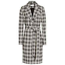 Buy Reiss Rowan Textured Check Coat, Black/White Online at johnlewis.com