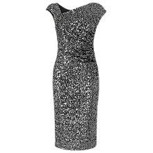 Buy L.K. Bennett Jazz Sequin Dress, Silver Online at johnlewis.com