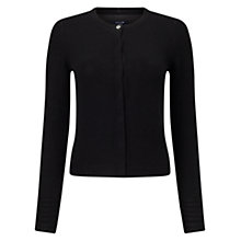Buy Jigsaw Cashmere Neat Cardigan, Black Online at johnlewis.com