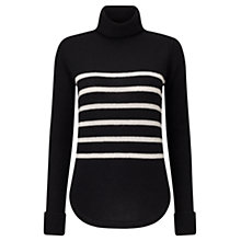 Buy Jigsaw Montmartre Cashmere Stripe Funnel Neck Jumper Online at johnlewis.com