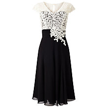 Buy Jacques Vert Lace Bodice Chiffon Dress, Multi Black Online at johnlewis.com