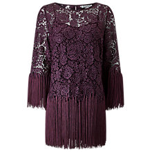 Buy Jacques Vert Tassel Lace Top, Dark Purple Online at johnlewis.com