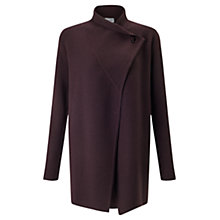 Buy Jigsaw Fastening Pique Cardigan, Winter Plum Online at johnlewis.com