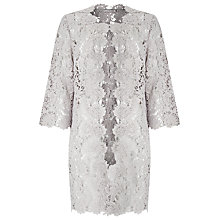 Buy Jacques Vert Lace Shacket, Light Grey Online at johnlewis.com