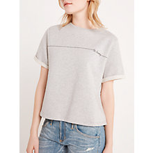 Buy AND/OR Be Lucky Sweat Top, Pale Grey Online at johnlewis.com