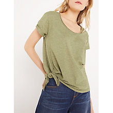 Buy AND/OR Side Tie T-Shirt, Khaki Online at johnlewis.com