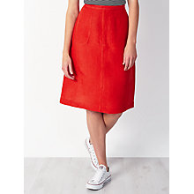 Buy John Lewis Relaxed A-Line Linen Skirt, Chilli Online at johnlewis.com