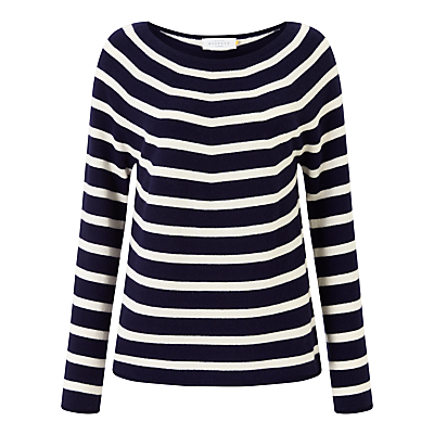 Collection WEEKEND by John Lewis Cashmere Stripe Jumper, Navy/Ivory