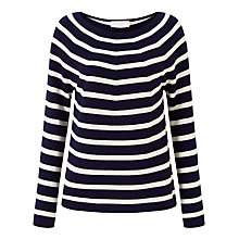 Buy Collection WEEKEND by John Lewis Cashmere Stripe Jumper, Navy/Ivory Online at johnlewis.com