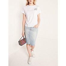 Buy AND/OR Palm Crew Neck T-Shirt, White Online at johnlewis.com