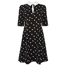 Buy Oasis Anna Daisy Clear Soft Dress, Multi Black Online at johnlewis.com