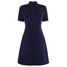 Buy Karen Millen Tailored Crepe Coat Dress, Navy Online at johnlewis.com